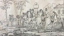 SWEBACH Chevaux Empire Napoléon 1806 eau forte cheval