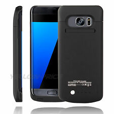 External Battery Backup Case Charger Power Bank Glass For Samsung Galaxy S7 edge