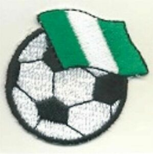 Soccer Nigeria Flag football Nigerian Embroidery Patch