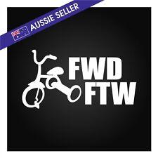 FWD FTW Sticker Decal Suit Civic Mazda VW Honda Pulsar SSS Lancer Funny