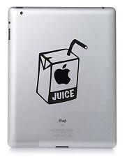 APPLE JUICE. Apple iPad transfer Mac Macbook Sticker Vinyl decal. Custom colour