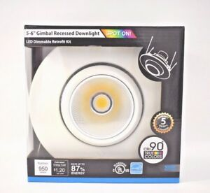 TORCHSTAR 10W 5-6inch Gimbal LED Recessed Tilt Light Retrofit 75W 5000K Daylight