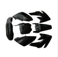 BLACK FENDER PLASTIC KIT HONDA CRF 70 CRF70 MOTORCYCLE DIRT BIKE