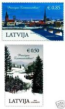 Latvia Lettland 2014 Cristmas - OLD CITY RIGA  full set  stamps MNH