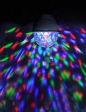 Disco Kugel Leuchtmittel für E27 Lampenfassung mit Rotation Partybeleuchtung