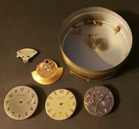 Small Lot of Wyler Watch Co Parts 4 Movements + Extra Parts...Fast Shipping!