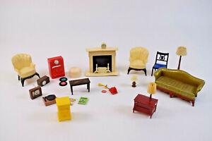 Vintage Renewal Product Dollhouse Living Room Furniture Lot of 23