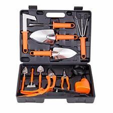 Gardening Tools Set 14 Pieces Stainless Steel Garden Hand Tool, Gardening Orange