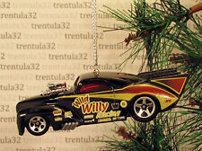 WILD WILLY '41 WILLYS COUPE 1941 BLACK HOT ROD DRAGSTER CHRISTMAS ORNAMENT XMAS