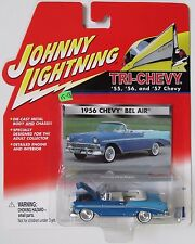 JOHNNY LIGHTNING TRI-CHEVY 1956 CHEVY BEL AIR CONVERTIBLE White wall tires