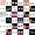 Fashion Womens 925 Sterling Silver Crystal Rhinestone Ear Stud Earrings jewelry