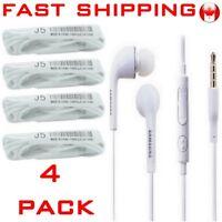 Earphones in-ear Earbud Headphone Ecouteurs Mic iPhone SAMSUNG S5 S9 LG (4-Pack)