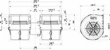 SPAL Interior Air Heater Blower Fan Motor 24V for Truck Bus Tractor Heavy Duty