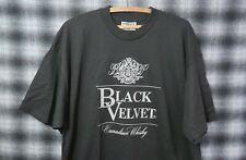 Vintage 90s Black Velvet Canadian Whiskey T-Shirt Xl Mint Lee
