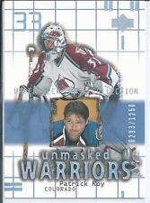 Patrick Roy  01/02 Upper Deck Mask  #175  Unmasked Warriors - Subset SP  /1250