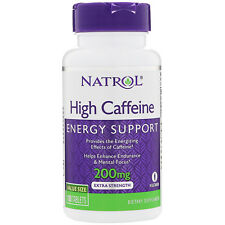 New Natrol High Caffeine 200 mg - 100 tablets