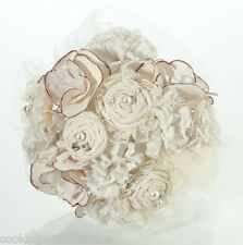 Lillian Rose Country Casual Style Ivory Flower Bridal Bouquet-Wedding  NEW