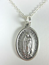 "Our Lady of Guadalupe Medal Pendant Necklace 20"" Chain Gift Box & Prayer Card"