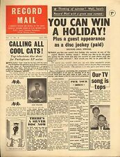 RECORD MAIL NEWSPAPER 1959 04 APRIL eurovision/kent walton/frankie avalon pic