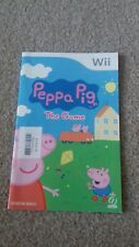Nintendo wii instruction booklet manual peppa pig the game