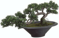 "16"" tall 25"" wide Artificial In Outdoor Cedar Bonsai Tree Topiary Cypress Pine 1"