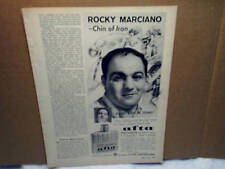 1963 ROCKY MARCIANO Mennen Afta aftershave boxing AD