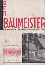 DER BAUMEISTER May 1940 Bauhaus era Design Architecture and Interiors 1930s