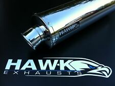 Kawasaki Versys 650 2007- Stainless Steel Round Exhaust Can, Silencer. R/Legal
