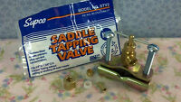 """WATER LINE SADDLE TAPPING VALVE, Fits 3/8"""" to 1-3/8"""" O.D. Copper Tubing"""