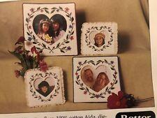 Floral Cross Stitch Frames - Set of Four