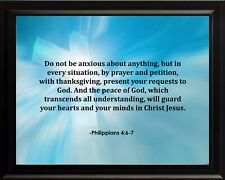 Philippians 4:6-7 Do Not Be Poster Print Picture or Framed Wall Art