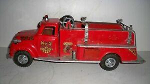 Vintage Tonka No.5 Fire Truck Pumper pressed Steel Toy