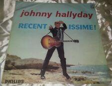 JOHNNY HALLYDAY RARE 33 TOURS ORIGINAL RECENTISSIME 1 ER PRESSAGE DES ANNEES 60