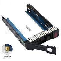 "W/Chip 3.5"" LFF SAS SATA HDD Tray Caddy Bracket 651314-001 For HP G8 Gen8 DL380p"