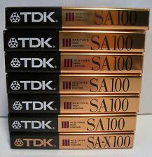 Lot of 7 NOS TDK SA100/SA-X100 Min Super Avilyn Cassettes IEC II/Type II-Sealed
