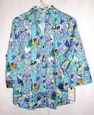 Women's Dana Buchman 3/4 Length Sleeve Floral Blouse Top - Size XL - NWT