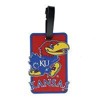 KU Kansas Jayhawks Travel Bag Tag ID Luggage Tag Team Colors