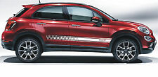Fiat 500X 500 X Logo Stripes Any Colour - Please Ask Decals Stickers graphic