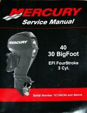 2010-2015 Mercury 40 / 30 Bigfoot EFI 4-Stroke 3-Cyl. Outboard Service Manual CD