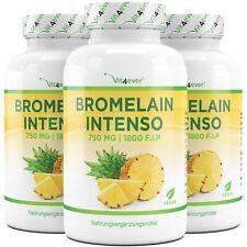 Bromelain Intenso - 360 Kapseln (vegan) a 750mg  (1800 F.I.P) - Ananas-Extrakt