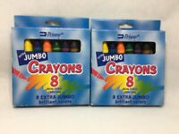 Lot of 2 Boxes Penway Extra Jumbo Crayons 8 count Brilliant Colors Pre-K Toddler
