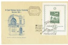 POLAND  23. V. 1954  ,,FIRST  DAY  COVER '' THE THIRD CONGRESS OF THE POLISH