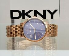 New DKNY Mens Ladies Unisex Watch Rose Gold plated bracelet RRP £189 Boxed (519