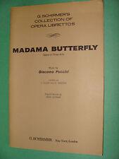 Opera Libretto Madama Butterfly Giacomo Puccini 1963 Italian / English text
