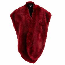 NEW~JAYLEY OVERSIZED FAUX FUR COLLAR WRAP - COLOUR RED - ONE SIZE - GREAT GIFT