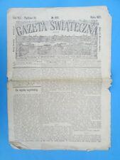 61. GAZETA SWIATECZNA Rok wydania 1921