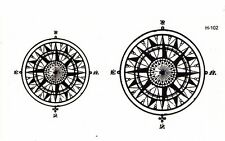 Compass English tattoos black men and women to cover scars waterproof Sticker