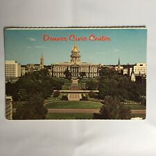 Denver Civic Center Colorado State Capitol Unposted Postcard
