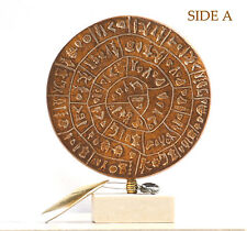 "PHAISTOS DISK Museum Replica Minoan Palace ""1700B.C. the first movable type"""