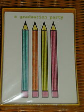 Vintage Graduation Party Invitations Package of 20 ~ Pencils Theme